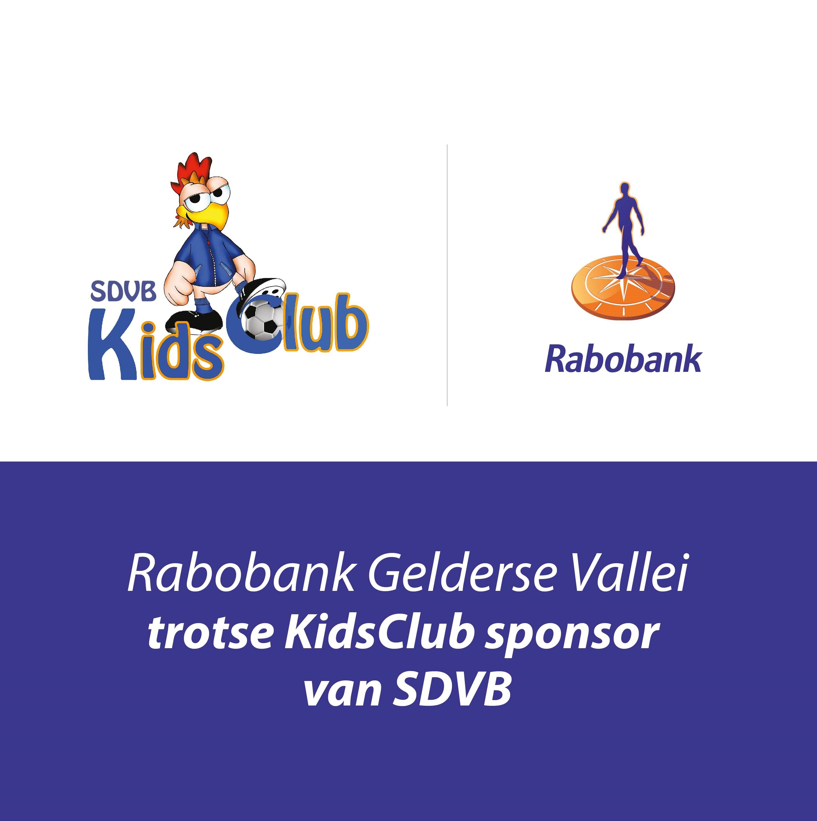 Rabobank trotse sponsor van SDVB kidsclub